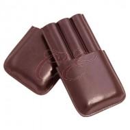 3 Finger Cigar Case Brown