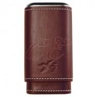 Xikar Envoy Cognac 3 Finger Cigar Case