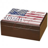 Armed Forces Loyalty 50 Count Humidor