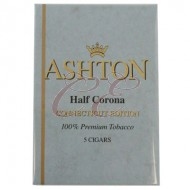 Ashton Half Corona Connecticut Box 50 (10 Packs of 5 Cigars)