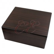 Dark Mahogany 40 Count Humidor with Divider, Hygrometer, and Humidifier