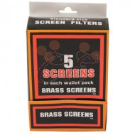 5 Pack Brass Pipe Screen Box 100/5 Pack