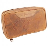 Brigham 2 Pipe Pouch Brown