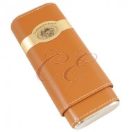 Craftsmans Bench Tan and Silver Churchill 54 Ring Guage Cigar Case
