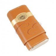Craftsmans Bench Tan and Silver Robusto 54 Ring Guage Cigar Case