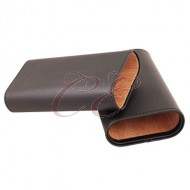 3 Finger Cigar Case Black Cedar Lined