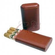 3 Finger Cigar Case Brown Cedar Lined