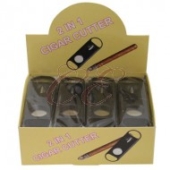 Black Plastic 2 in 1 Cigar Cutter Box 24