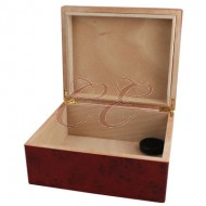 Cherry 40 Count Humidor with Divider, Hygrometer, and Humidifier