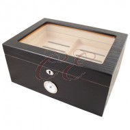 Milano Black Oak 100 Count Humidor