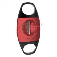 Lotus Jaws Cigar Cutter V-Cut Red and Black