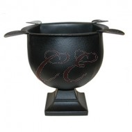 Stinky Cast Iron Black Ashtray