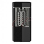 Xikar Meridian Triple Soft Flame Black and Gunmetal Lighter