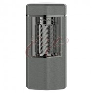 Xikar Meridian Triple Soft Flame Gunmetal Lighter